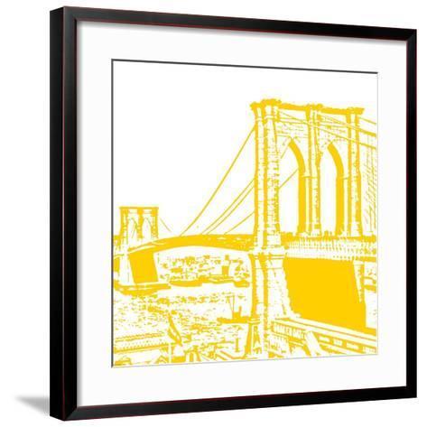Yellow Brooklyn Bridge-Veruca Salt-Framed Art Print