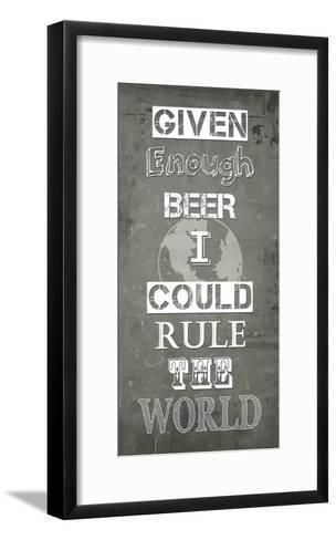 Given Enough Beer-Veruca Salt-Framed Art Print