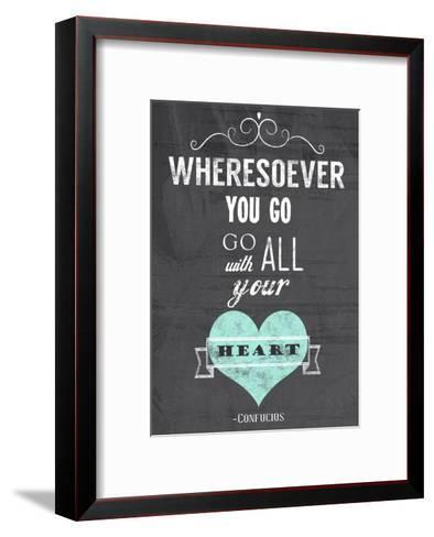 Go With All Your Heart-Veruca Salt-Framed Art Print