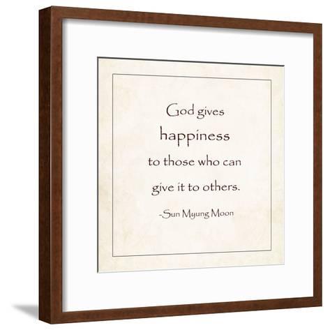God Gives Happiness-Veruca Salt-Framed Art Print