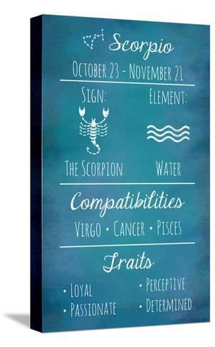 Scorpio Zodiac Sign-Veruca Salt-Stretched Canvas Print