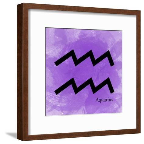 Aquarius - Violet-Veruca Salt-Framed Art Print