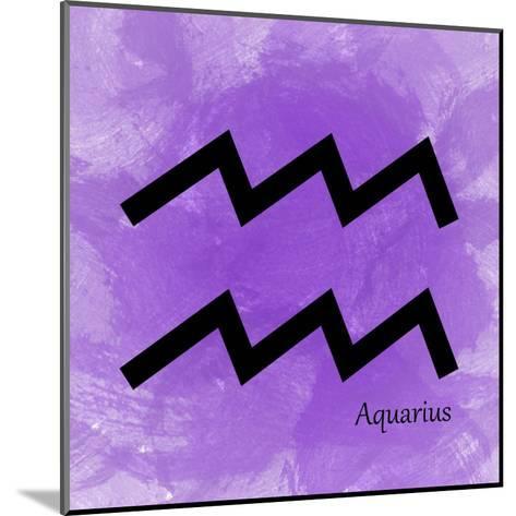 Aquarius - Violet-Veruca Salt-Mounted Art Print