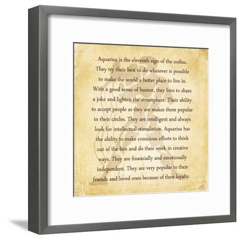 Aquarius Character Traits-Veruca Salt-Framed Art Print