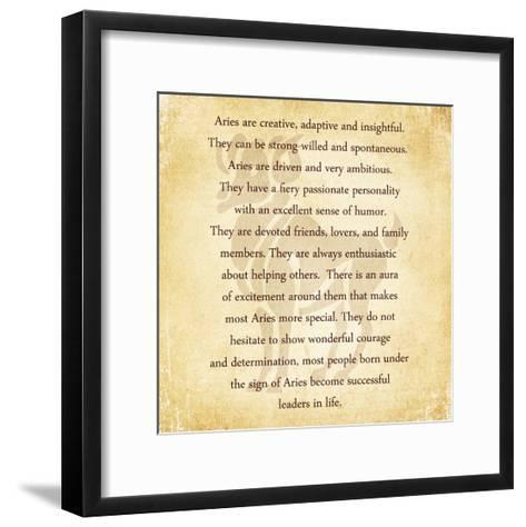 Aries Character Traits-Veruca Salt-Framed Art Print