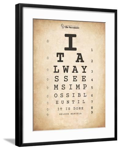 Nelson Mandela Eye Chart II-Veruca Salt-Framed Art Print