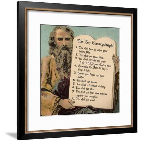 Tablets of the Ten Commandments-Veruca Salt-Framed Art Print