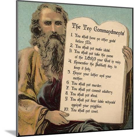 Tablets of the Ten Commandments-Veruca Salt-Mounted Art Print