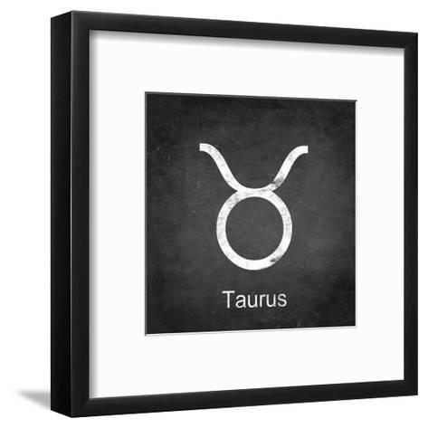 Taurus - Black-Veruca Salt-Framed Art Print
