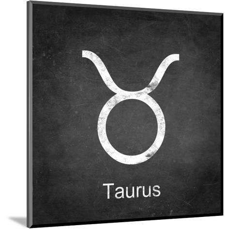 Taurus - Black-Veruca Salt-Mounted Art Print