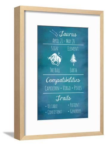 Taurus Zodiac Sign-Veruca Salt-Framed Art Print