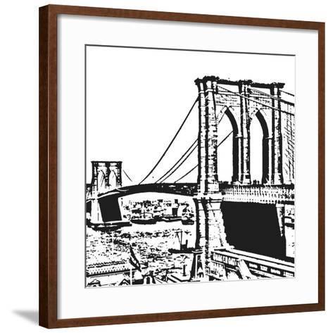 Black Brooklyn Bridge-Veruca Salt-Framed Art Print