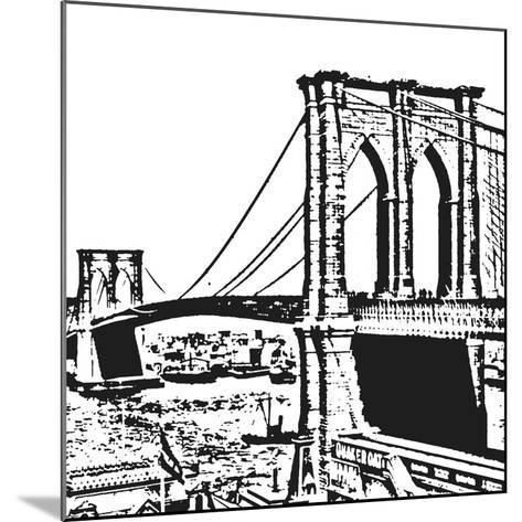 Black Brooklyn Bridge-Veruca Salt-Mounted Art Print