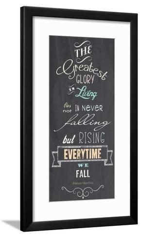The Greatest Glory - Nelson Mandela Quote-Veruca Salt-Framed Art Print