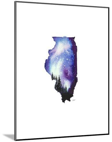 Illinois State Watercolor-Jessica Durrant-Mounted Art Print