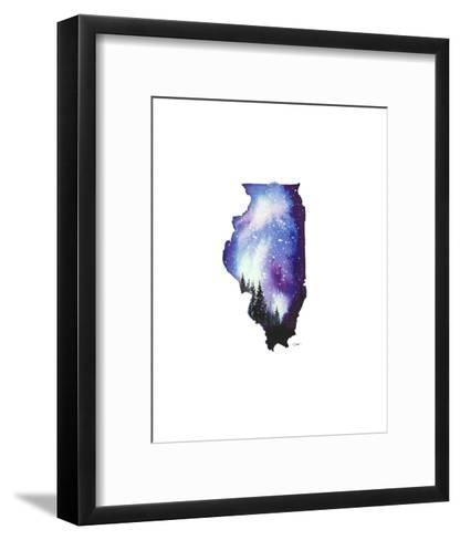 Illinois State Watercolor-Jessica Durrant-Framed Art Print