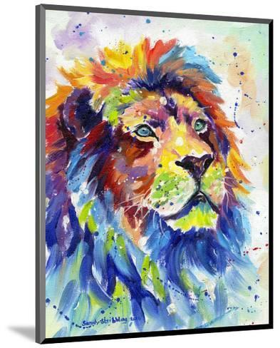 Colorful African Lion-Sarah Stribbling-Mounted Art Print