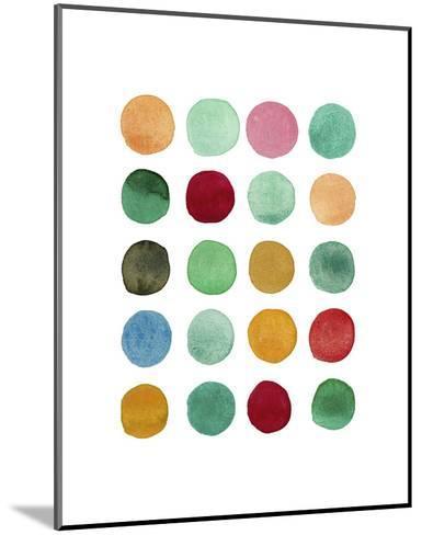Series Colored Dots No. I-Louise van Terheijden-Mounted Art Print