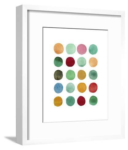 Series Colored Dots No. I-Louise van Terheijden-Framed Art Print