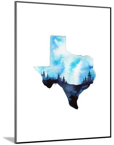 Texas State Watercolor-Jessica Durrant-Mounted Art Print