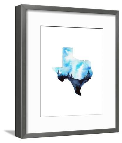 Texas State Watercolor-Jessica Durrant-Framed Art Print