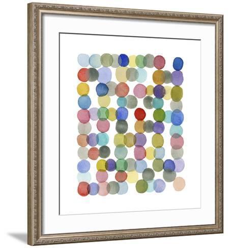 Series Colored Dots No. II-Louise van Terheijden-Framed Art Print