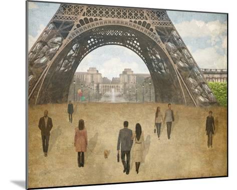 A Parisien Stroll-Midori Greyson-Mounted Giclee Print
