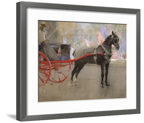 The Flower Shop-Joseph Crawhall-Framed Art Print