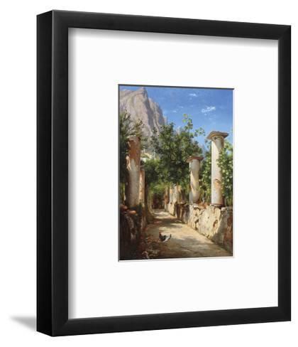 An Ancient Colonnade, Italy-Carl Frederic Aagaard-Framed Art Print