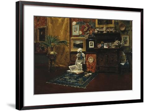 Studio Interior, c.1882-William Merritt Chase-Framed Art Print