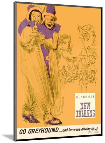 New Orleans - Mardi Gras - Greyhound Bus Lines-George Roth-Mounted Art Print