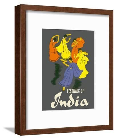 Festivals of India - Classical Indian Dancers-Pacifica Island Art-Framed Art Print