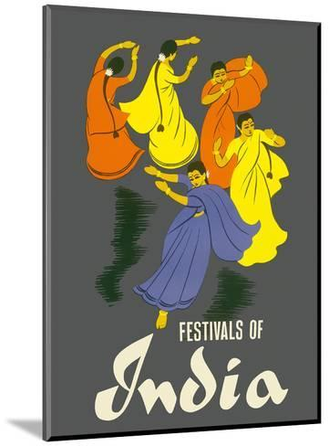 Festivals of India - Classical Indian Dancers-Pacifica Island Art-Mounted Art Print