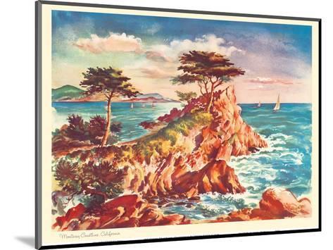 Monterey Coastline, California - United Air Lines Calendar Page-Joseph Feh?r-Mounted Art Print