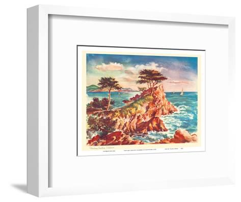 Monterey Coastline, California - United Air Lines Calendar Page-Joseph Feh?r-Framed Art Print