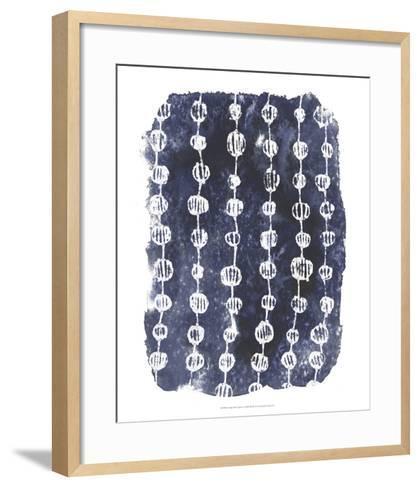 Indigo Batik Vignette I-June Erica Vess-Framed Art Print