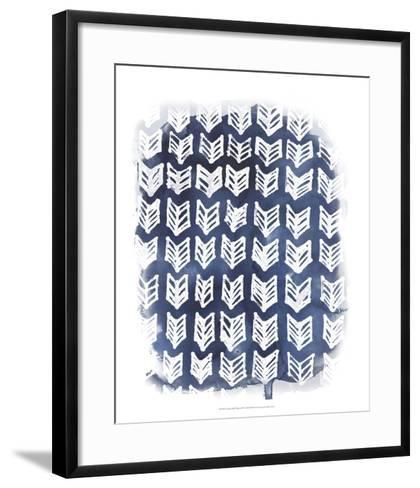 Indigo Batik Vignette IV-June Erica Vess-Framed Art Print