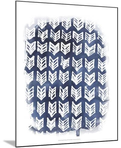 Indigo Batik Vignette IV-June Erica Vess-Mounted Art Print