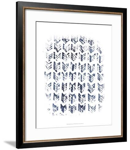 Indigo Batik Vignette VIII-June Erica Vess-Framed Art Print
