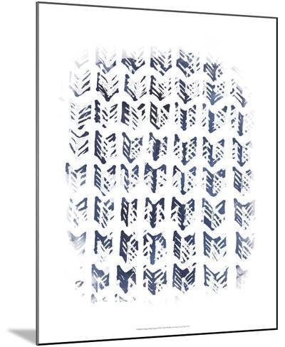 Indigo Batik Vignette VIII-June Erica Vess-Mounted Art Print
