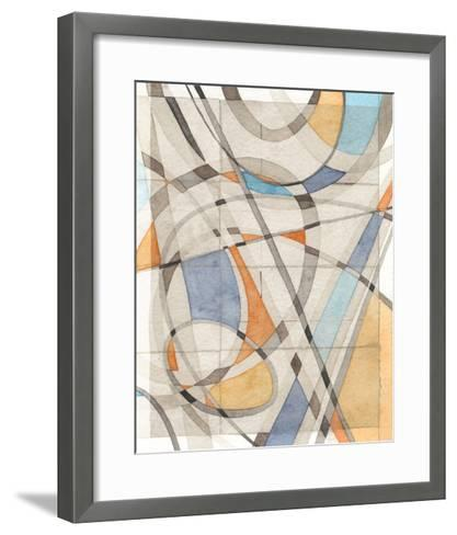 Ovals & Lines II-Nikki Galapon-Framed Art Print