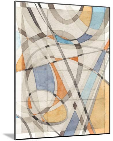Ovals & Lines II-Nikki Galapon-Mounted Art Print