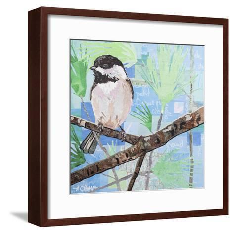 Chickadee Collage I-Alyson Champ-Framed Art Print