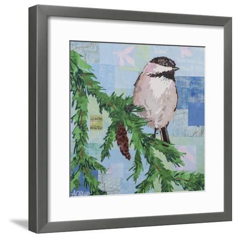 Chickadee Collage III-Alyson Champ-Framed Art Print