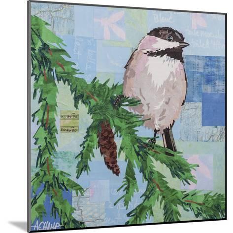 Chickadee Collage III-Alyson Champ-Mounted Art Print