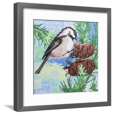Chickadee Collage IV-Alyson Champ-Framed Art Print