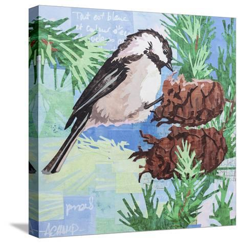 Chickadee Collage IV-Alyson Champ-Stretched Canvas Print