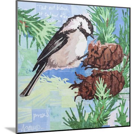 Chickadee Collage IV-Alyson Champ-Mounted Art Print
