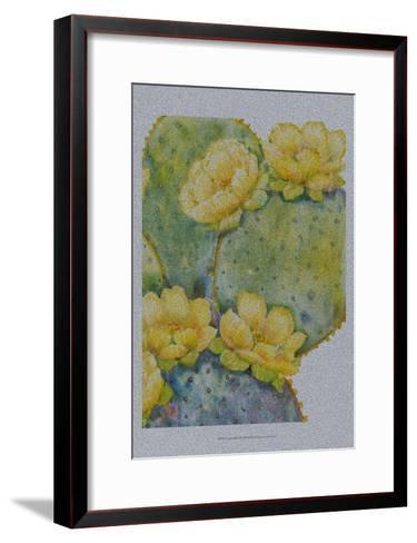 Cactus on Silver II-Tim O'toole-Framed Art Print