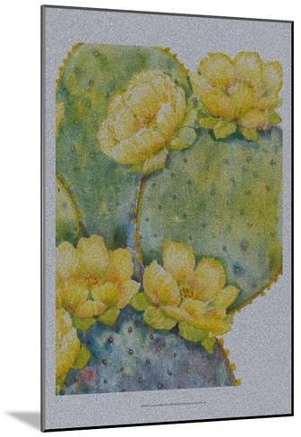 Cactus on Silver II-Tim O'toole-Mounted Art Print